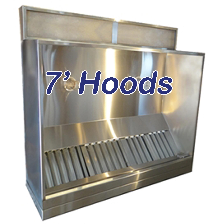 "Restaurant Kitchen Ventilation System: 84"" Commercial Kitchen Hood"