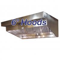 6' Sloped Canopy Hoods